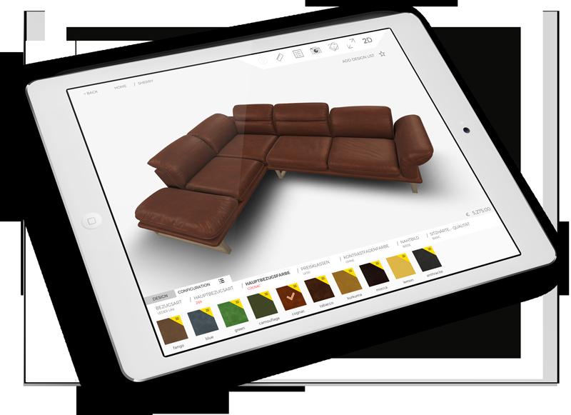 Tablet Dekor 3d Sofa configurator