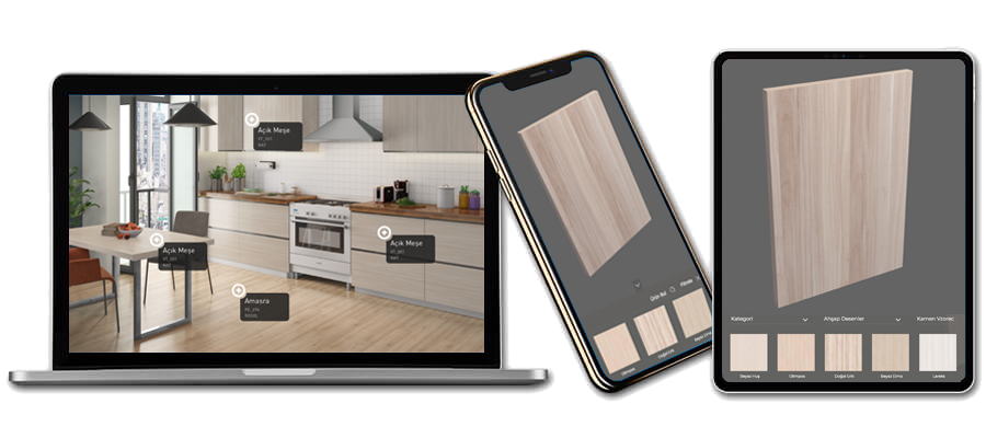 Tablet Dekor 3D Chart and Virtual Showroom